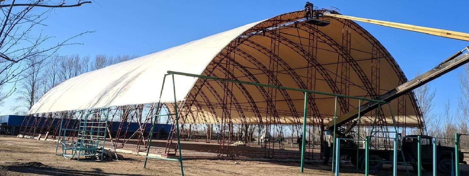 Будівництво першого на узбережжі Азовського моря КРИТОГО СПОРТИВНОГО ЗАЛУ